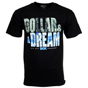 DGK Dollar And A Dream T-Shirt - Black