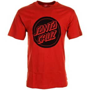 Santa Cruz T-Shirt - Reverse Dot Barn Red