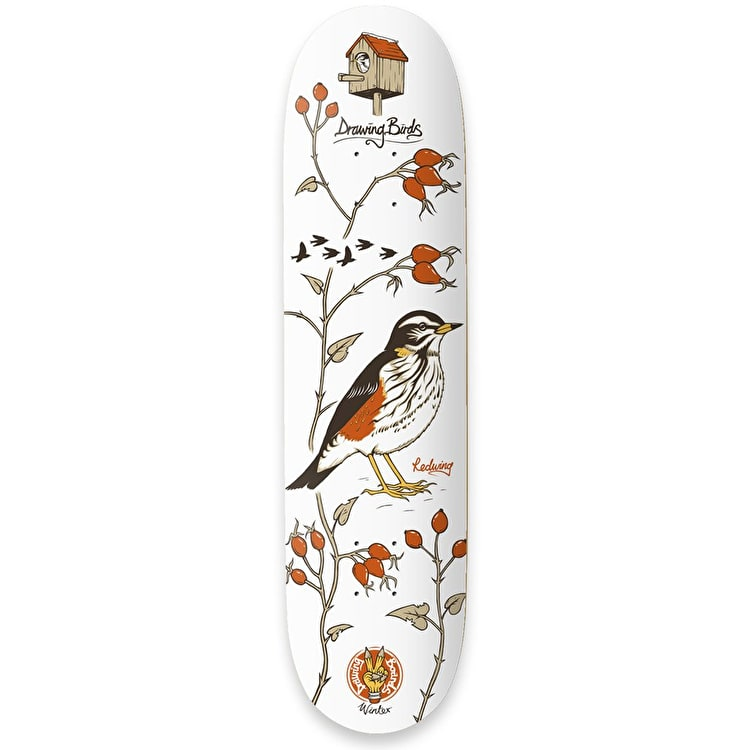 Drawing Boards Seasonal Birds - Redwing Skateboard Deck 8.25""