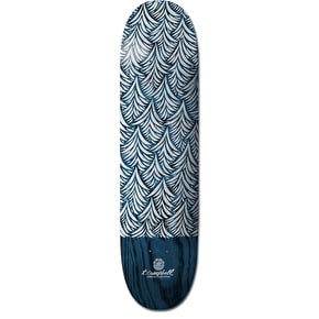 Element x T. Campbell Indigo Waves Shaped Skateboard Deck - 8.5