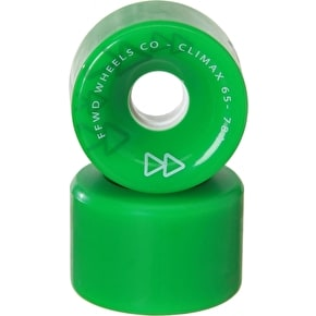 Forward Climax 65mm 78a Longboard Wheels - Green (Pack of 4)