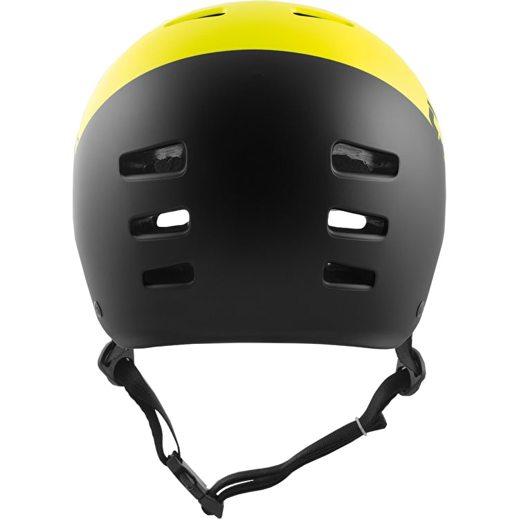 TSG Evolution Youth Helmet - Divided Acid Yellow/Black