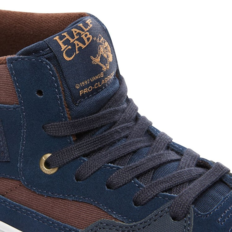 Vans Half Cab Pro Skate Shoes - (Independent) Dress Blues/Demitasse