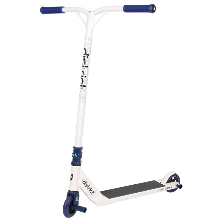 District S-Series SCS Custom Scooter - White/Blue