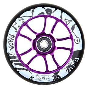 AO Enzo 110mm Wheel Incl Bearings - Purple