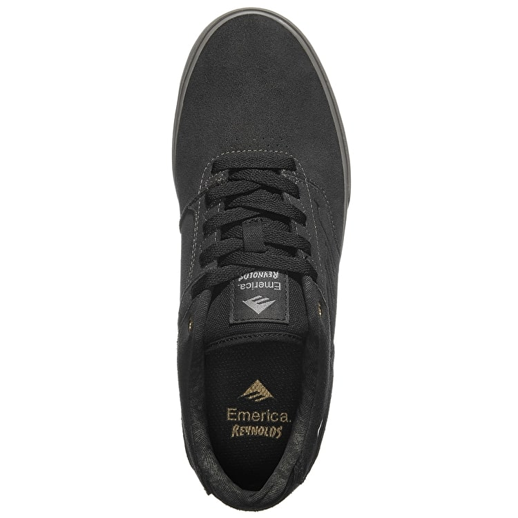 Emerica The Reynolds Low Vulc Skate Shoes - Dark Grey/Grey