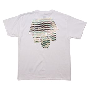 SkateHut Hut Dot Logo Kids T-Shirt - White/Camo