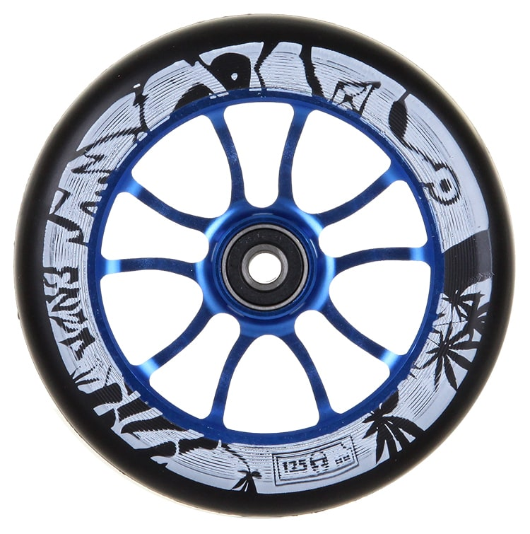 Image of AO 125mm Enzo 2 Signature Scooter Wheel - Blue