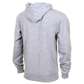 Hype Breast Mini Script Zip Hoodie - Grey/White