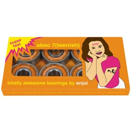 Enjoi Teenish ABEC 7 Skateboard Bearings - Orange