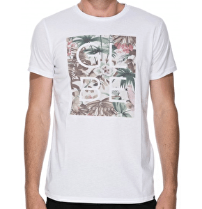 Globe Box Fill T-Shirt - White/Jungle