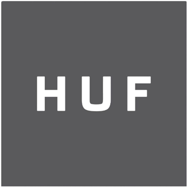 Huf Small Sticker - Black