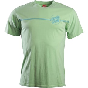 Santa Cruz Classic Dot Outline T-Shirt - Vintage Lime