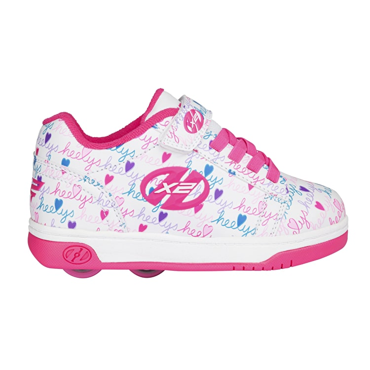 Heelys X2 Dual Up - White/Pink/Multi