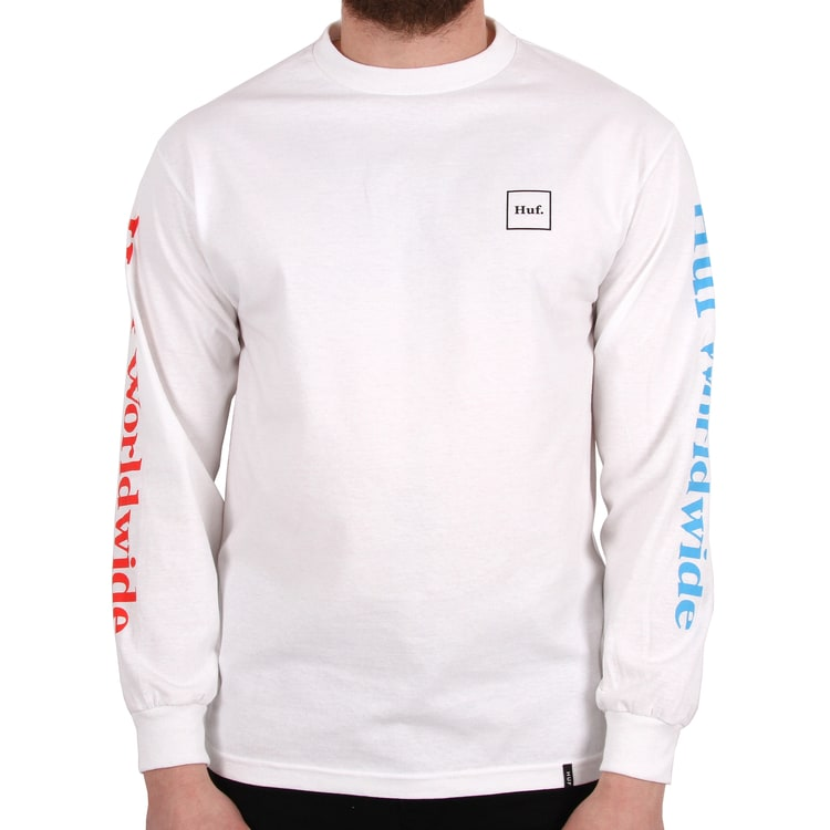 Huf Domestic Long Sleeve T shirt - White