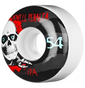 Powell Peralta Skateboard Wheels - Ripper II White 54mm 97a