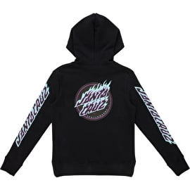 Santa Cruz Flame Dot Womens Hoodie - Black
