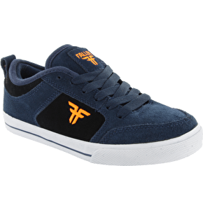 Fallen Kids Clipper Skate Shoes - Midnight Blue/Hazard Orange