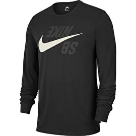 Nike SB Long Sleeve T Shirt - Black/Phantom