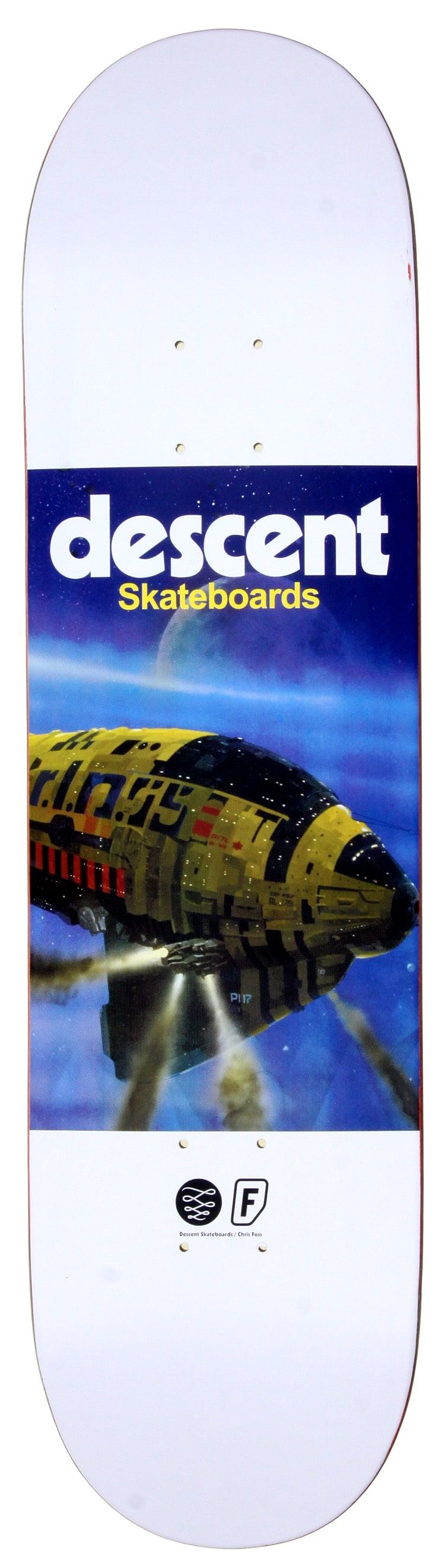 Image of Descent X Chris Foss Skateboard Deck - 8.2""