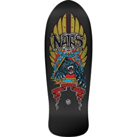 Santa Cruz Natas Panther Reissue Skateboard Deck - Candy Metallic Black 10.538