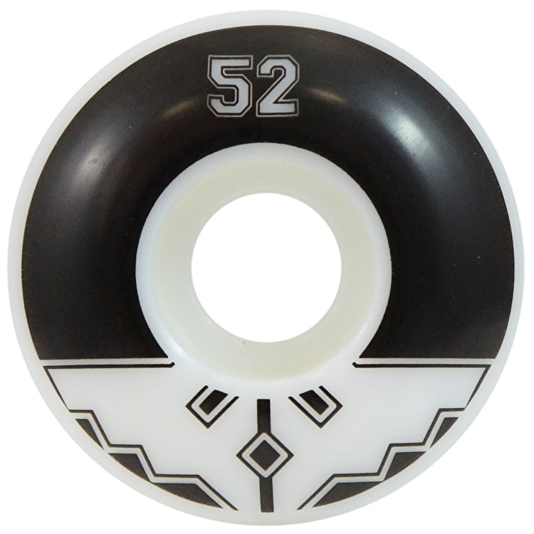 Fracture Uni Classic Skateboard Wheels - Black 52mm
