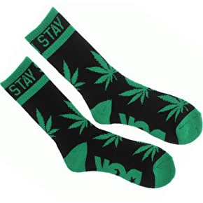 DGK Stay Smoking 2 Crew Pair Socks Black