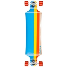 Atlantic Drop Down Longboard - Titan Blue/Yellow/Red 40
