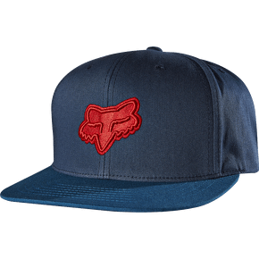 Fox Blocked Snapback Cap - Indigo