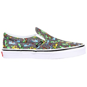 Vans Classic Slip-On Toddler Shoes - (Nintendo) Yoshi/Pewter