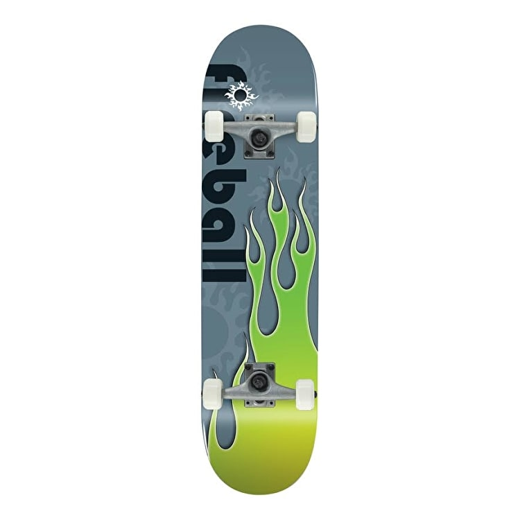 Voltage Classic Fireball Complete Skateboard - Green 7.75