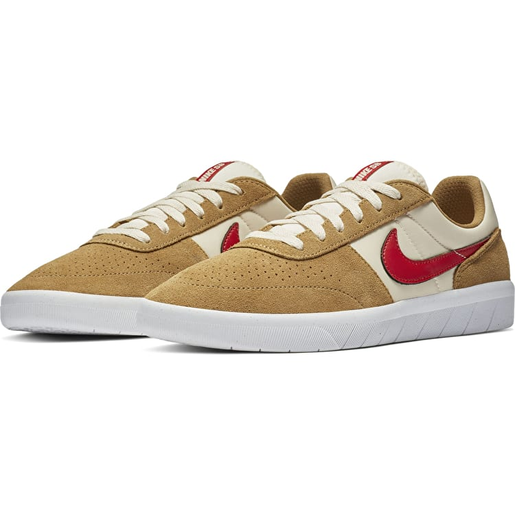 Nike SB Team Classic Skate Shoes - Golden Beige/University Red-Light Cream