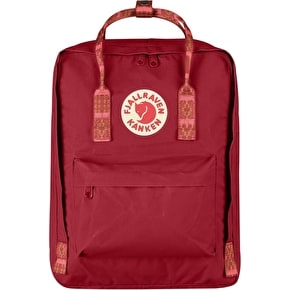 Fjallraven Kanken Backpack - Deep Red/Folk Pattern