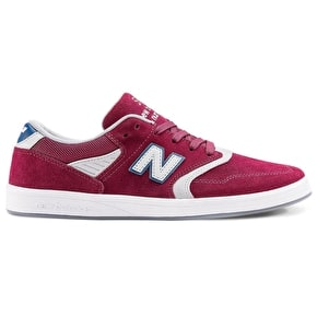 New Balance 598 Shoes - Burgundy/Grey