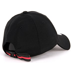 New Era 9FORTY LA Jersey Pop Cap - Black/Lava Red