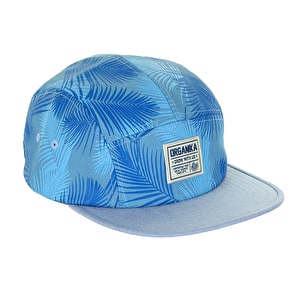 Organika Palms 5 Panel Cap - Blue