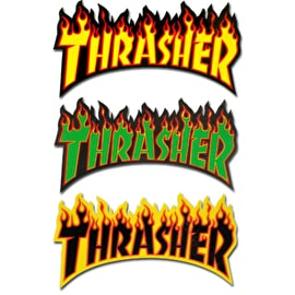 Thrasher Flame Logo Large Skateboard Sticker - Random