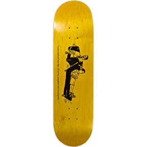 Chocolate Wood Grain Skateboard Deck - Hsu 8.25