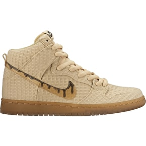 Nike SB Dunk High Premiun Shoes - Flat Gold Star/Classic Brown