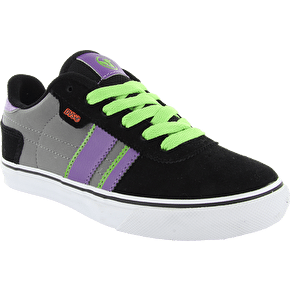 DVS Kids Milan 2 CT Skate Shoes - Black/Grey/Purple Nubuck