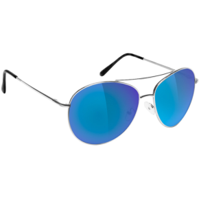 Glassy Sunhaters Daewon Signature - Silver/Blue Mirror Polarized