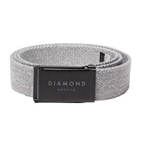 Diamond Stone Cut Clamp Belt - Heather Grey