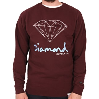 Diamond OG Sign Crew Neck - Burgundy