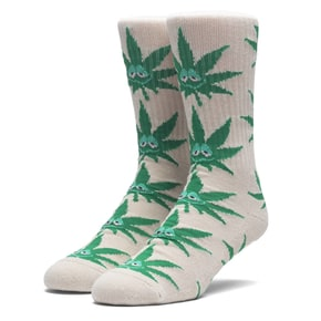 Huf Green Buddy Crew Socks - Tan