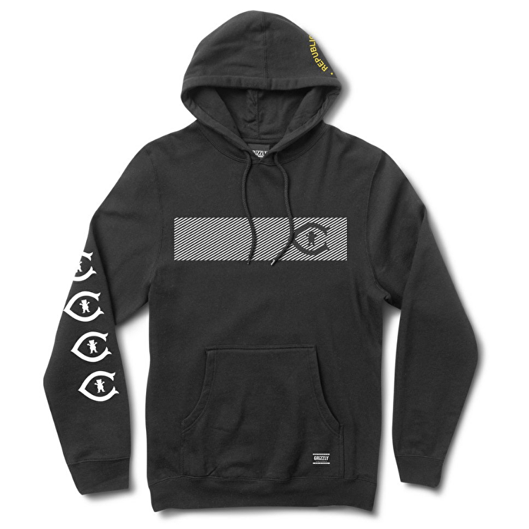 Grizzly Republica Hoodie - Black