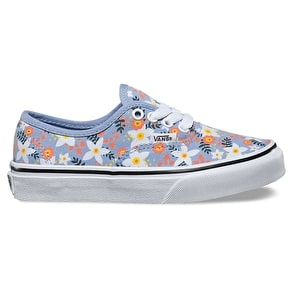 Vans Authentic Kids Skate Shoes - (Floral Pop) Bel Air Blue