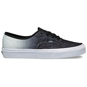 Vans Authentic Skate Shoes - (2 Tone Glitter) Silver/Black