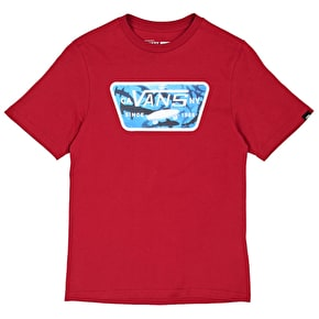 Vans Full Patch Fill Kids T-Shirt - Cardinal/Hammerhead