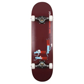 Enjoi Ben Raemers Custom Skateboard - Burgundy - 8.25