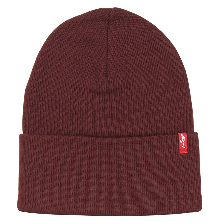 Levi's Slouchy Red Tab Beanie - Bordeaux